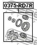 РЕМКОМПЛЕКТ СУППОРТА ТОРМОЗНОГО ЗАДНЕГО HONDA CR-V RD4/RD5/RD6/RD7/RD9 2001-2006  арт. 0375RD7R