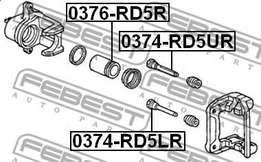 Поршень суппорта тормозного  арт. 0376RD5R