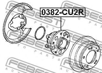 Подшипник ступицы колеса задний HONDA ACCORD CU# 2008-2012  арт. 0382CU2R