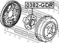 Подшипник ступицы колеса задний HONDA JAZZ/FIT GD# 2002-2008  арт. 0382GDR