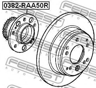 Подшипник ступицы колеса задний HONDA ODYSSEY II (RHD) RA6/RA7/RA8/RA9 1999-2003  арт. 0382RAA50R