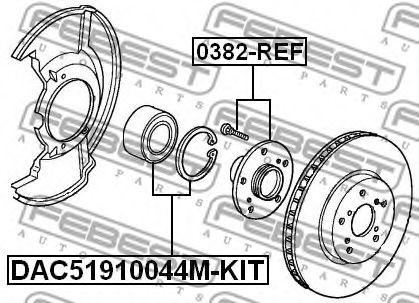 Подшипник ступицы колеса, передний HONDA CR-V RE3/RE4 2007-2012  арт. 0382REF