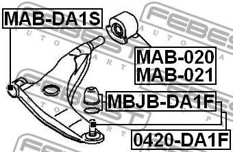 Шаровая опора переднего нижнего рычага FEBEST 0420DA1F