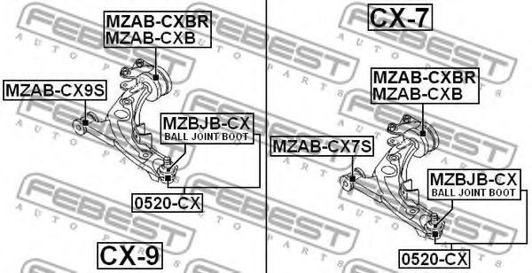 ОПОРА ШАРОВАЯ (MAZDA CX-7 ER 2006-) FEBEST FEBEST 0520CX