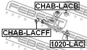 Шаровая опора переднего нижнего рычага FEBEST 1020LAC