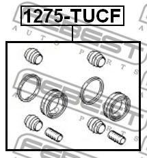 Ремкомплект суппорта передн. HYUNDAI TUCSON 2004-2010 (пр-во FEBEST)                                  арт. 1275TUCF