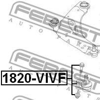 Шаровая опора переднего нижнего рычага FEBEST 1820VIVF