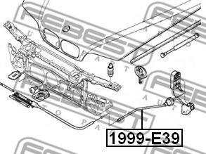 ТРОСИК ПРИВОДА ОТКРЫВАНИЯ ЗАМКА КАПОТА BMW 5 E39 1995-2003 FEBEST 1999E39
