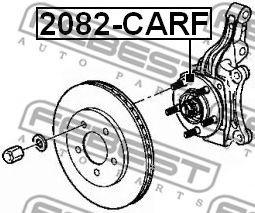 Подшипник ступицы колеса, передний CHRYSLER VOYAGER IV 2001-2007  арт. 2082CARF