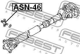 КРЕСТОВИНА 27X46,1 (NISSAN PATROL (GR) Y61 1997-2010) FEBEST  арт. ASN46