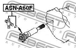 КРЕСТОВИНА КАРДАННОГО ВАЛА 27X82 NISSAN PATHFINDER R51 2004-  арт. ASNA60F