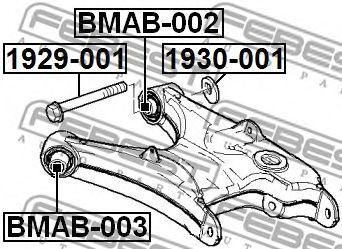 САЙЛЕНБЛОК ЗАДНЕГО НИЖНЕГО РЫЧАГА BMW X5 E53 1999-2006  арт. BMAB003
