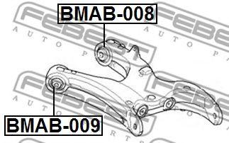 САЙЛЕНБЛОК ЗАДНЕГО НИЖНЕГО РЫЧАГА BMW X5 E70 2006-  арт. BMAB009