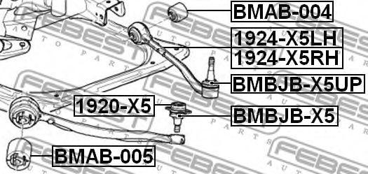 ПЫЛЬНИК ОПОРЫ ШАРОВОЙ BMW X5 E53 1999-2006  арт. BMBJBX5UP