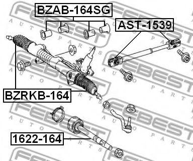 САЙЛЕНБЛОК РУЛЕВОЙ РЕЙКИ  MERCEDES BENZ ML-CLASS 164 2004-2011 FEBEST BZAB164SG