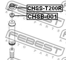 ВТУЛКА АМОРТИЗАТОРА CHEVROLET AVEO (T200) 2003-2008 FEBEST CHSB001