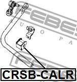 Втулка заднего стабилизатора (Пр-во FEBEST)                                                           арт. CRSBCALR