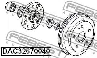 ПОДШИПНИК СТУПИЧНЫЙ ЗАДНИЙ (32X67X40) (HONDA HR-V GH1/GH2/GH3/GH4 1998-2005) FEBEST  арт. DAC32670040