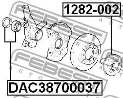 Подшипник ступицы колеса передний (38x70x37) (HYUNDAI ACCENT/VERNA 1999-) FEBEST  арт. DAC38700037