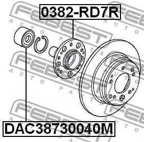 Подшипник ступицы колеса HONDA ACCORD CL# 2002-2008  арт. DAC38730040M
