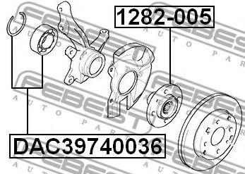 Подшипник ступицы колеса передний (39x74x36x34) (HYUNDAI ELANTRA/LANTRA (CA) 2000-2006) FEBEST  арт. DAC39740036