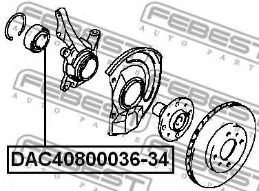 Подшипник ступицы  арт. DAC4080003634