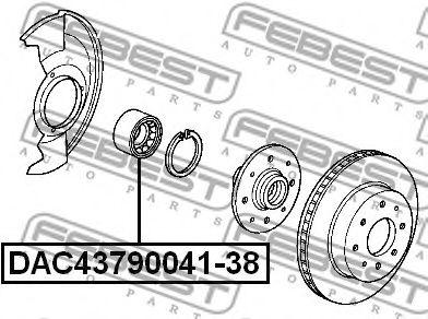 Подшипник ступицы колеса передний (43x79x38x41) (HONDA CR-V RD1/RD2 1997-2001) FEBEST  арт. DAC4379004138