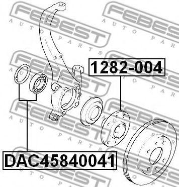 Подшипник ступицы колеса передний (45x84x41) (HYUNDAI TUCSON 2004-2010) FEBEST  арт. DAC45840041