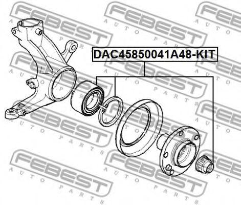 Подшипник ступицы колеса передний РЕМКОМПЛЕКТ 45X85X41 BMW X5 E53 1999-2006  арт. DAC45850041A48KIT