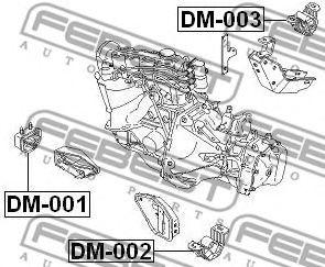 Подушка двигателя задняя FEBEST DM003