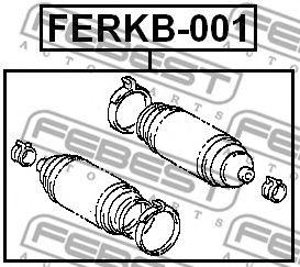 Пыльник рулевой рейки CHERRY, FORD, OPEL (Пр-во FEBEST)                                              FEBEST FERKB001
