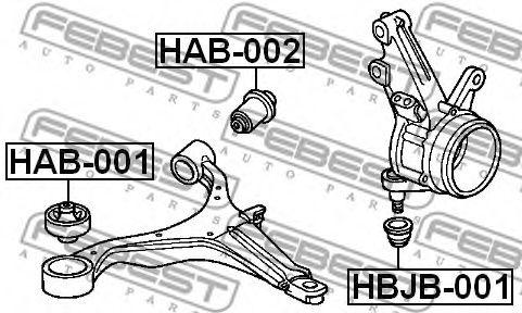 САЙЛЕНБЛОК ЗАДНИЙ ПЕРЕДНЕГО РЫЧАГА (HONDA CR-V RD4/RD5/RD6/RD7/RD9 2001-2006) FEBEST  арт. HAB002