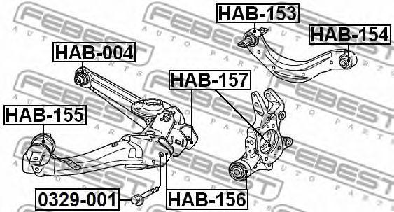САЙЛЕНБЛОК ЗАДНЕГО РЫЧАГА (HONDA ODYSSEY/SHUTTLE RB1/RB2 2003-2008) FEBEST  арт. HAB004