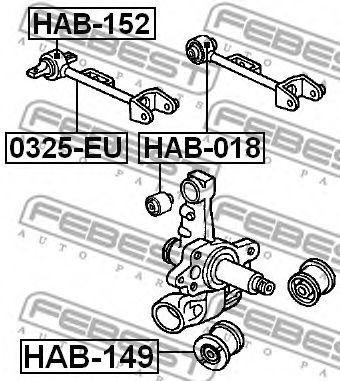 Сайлентблок  арт. HAB018