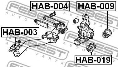 САЙЛЕНБЛОК ЗАДНЕГО НИЖНЕГО РЫЧАГА HONDA CR-V RD4/RD5/RD6/RD7/RD9 2001-2006  арт. HAB019