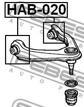 Сайлентблок (Пр-во FEBEST)                                                                            арт. HAB020