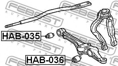 САЙЛЕНБЛОК ПЕРЕДНИЙ НИЖНЕГО РЫЧАГА HONDA ACCORD CF3/CF4/CF5/CL1/CL3 1998-2002  арт. HAB035