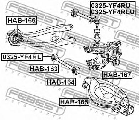 Сайлентблок заднего рычага  арт. HAB165