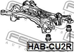 САЙЛЕНБЛОК ПОДРАМНИКА HONDA ACCORD CU# 2008-2012  арт. HABCU2R
