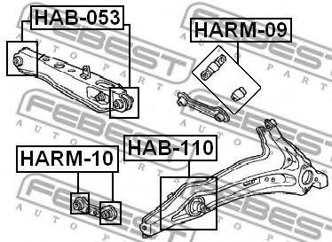 РЕМКОМПЛЕКТ САЙЛЕНБЛОКОВ ТЯГИ (HONDA CR-V RD1/RD2 1997-2001) FEBEST  арт. HARM10