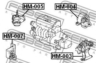 ПОДУШКА ДВИГАТЕЛЯ ПРАВАЯ HONDA CR-V RD4/RD5/RD6/RD7/RD9 2001-2006  арт. HM005
