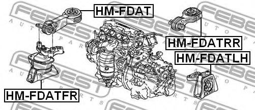 Подушка двигателя пердняя HONDA CIVIC FD 4D 2006-2012 (пр-во FEBEST)                                  арт. HMFDATFR