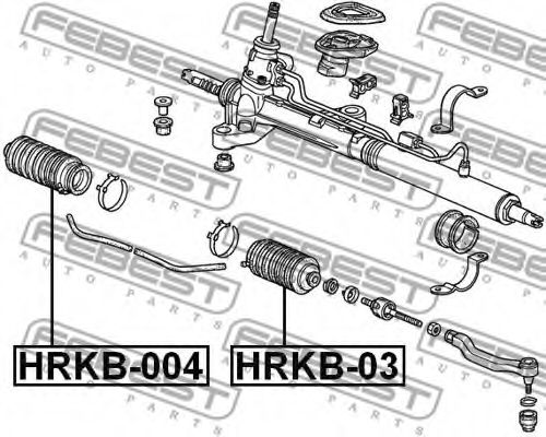 Пыльник рулевой рейки FEBEST HRKB03