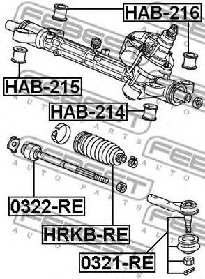 Пыльник рулевой рейки FEBEST HRKBRE
