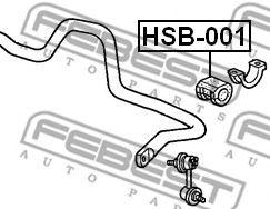 ВТУЛКА ПЕРЕДНЕГО СТАБИЛИЗАТОРА D27.2 (HONDA CR-V RD4/RD5/RD6/RD7/RD9 2001-2006) FEBEST  арт. HSB001