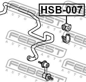 ВТУЛКА ПЕРЕДНЕГО СТАБИЛИЗАТОРА D26 (HONDA CR-V RD1/RD2 1997-2001) FEBEST  арт. HSB007