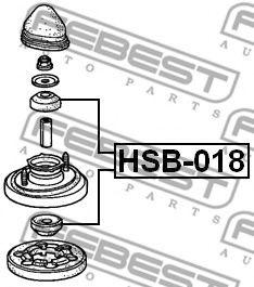 ВТУЛКА ЗАДНЕГО АМОРТИЗАТОРА HONDA CR-V RD1/RD2 1997-2001 FEBEST HSB018