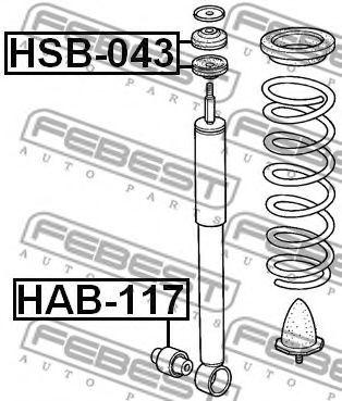 ВТУЛКА ЗАДНЕГО АМОРТИЗАТОРА (HONDA HR-V GH1/GH2/GH3/GH4 1998-2005) FEBEST FEBEST HSB043