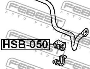 ВТУЛКА ПЕРЕДНЕГО СТАБИЛИЗАТОРА D27.2 (HONDA ACCORD CF3/CF4/CF5/CL1/CL3 1998-2002) FEBEST  арт. HSB050