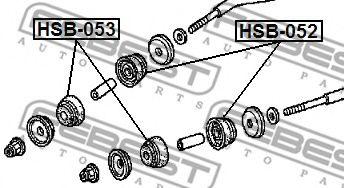 ВТУЛКА ПЕРЕДНЕЙ ТОЛКАЮЩЕЙ ТЯГИ HONDA ACCORD CF3/CF4/CF5/CL1/CL3 1998-2002  арт. HSB053